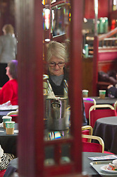 Pictured: Keeping warm and dry was the order of the day today with refereshments high on the list of things to do.<br /> Book fanatics headed to Charlotte Square in Edinburgh which is the hub of the international Book Festival to meet the authors and also to meet up with fellow fans of the printed word.<br /> <br /> <br /> Ger Harley | EEm 16 August 2017
