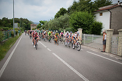 The race comes together after the first, short climb during the Giro Rosa 2016 - Stage 1. A 104 km road race from Gaiarine to San Fior, Italy on July 2nd 2016.