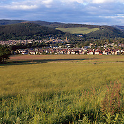 Peebles in the Scottish Borders on a late summer evening