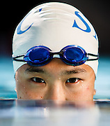 Michelle Liu poses for the Corsair's weekly feature of Athlete of the Week at the Santa Monica Aquatics Center on March 8, 2012 in Santa Monica, Calif.  Michael Yanow