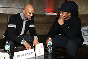 Common and Sway at The Smirnoff Press Conference announcing Music Series held at Element on February 26, 2008
