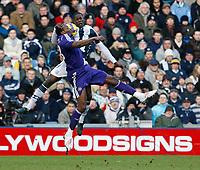 Photo: Steve Bond/Richard Lane Photography. West Bromwich Albion v Newcastle United. Barclays Premiership. 07/02/2009. Leon Barnett (back) and Shola Ameobi in the air