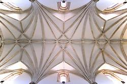 THEMENBILD - Madrid ist seit Jahrhunderten der geographische, politische und kulturelle Mittelpunkt Spaniens (siehe Kastilien) und der Sitz der spanischen Regierung. Hier residieren auch der König, ein katholischer Erzbischof sowie wichtige Verwaltungs- und Militärbehörden. Als Handels- und Finanzzentrum hat die Stadt nationale und internationale Bedeutung. Hier im Bild Netzgewoelbe der Deckenkonstruktion, Iglesia de San Jeronimo el Real de Madrid, erster Sitz des kastilischen Parlaments 1510 // THEMATIC PACKAGES - Madrid is the capital and largest city of Spain. The population of the city is roughly 3.3 million and the entire population of the Madrid metropolitan area is calculated to be around 6.5 million. It is the third-largest city in the European Union, after London and Berlin, and its metropolitan area is the third-largest in the European Union after London and Paris. The city spans a total of 604.3 km2. EXPA Pictures © 2014, PhotoCredit: EXPA/ Eibner-Pressefoto/ Weber<br /> <br /> *****ATTENTION - OUT of GER*****