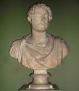 Marble bust of Emperor Hadrian (AD 117-138).  From Hadrian's Villa.