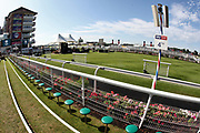 A general view of the Parade Ring on Day 4 of  the Ebor Festival at York Racecourse, York, United Kingdom on 24 August 2019.