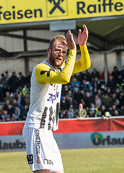 16.02.2019, TGW Arena, Pasching, AUT, OeFB Uniqa Cup, LASK vs SKN St. Pölten, Viertelfinale, im Bild Joao Klauss de Mello (LASK) feiert das 3 zu 0 // during the quaterfinal match of the ÖFB Uniqa Cup between LASK and SKN St. Pölten at the TGW Arena in Pasching, Austria on 2019/02/16. EXPA Pictures © 2019, PhotoCredit: EXPA/ Reinhard Eisenbauer
