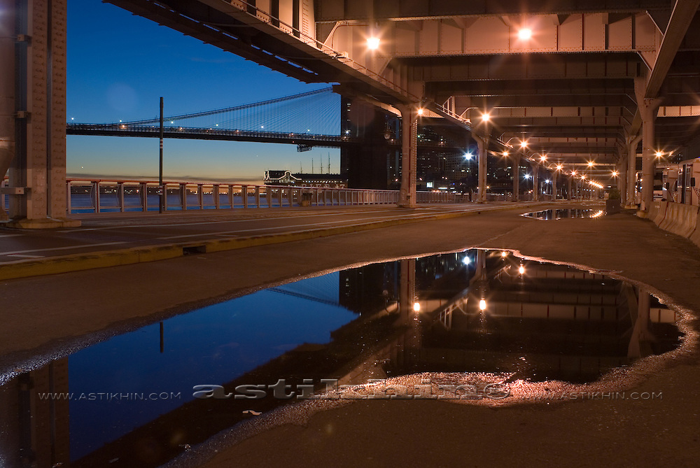Reflection under FDR Drive, Manhattan.