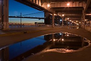 Reflection under FDR Drive, Manhattan.