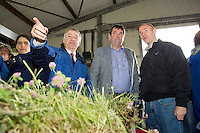 "30/6/2012. Prof Gerry Boyle Teagasc and Minister for Horticulture at the Department of Agriculture, Food and the Marine, Shane McEntee TD, and Patrick Conaghan from Teagasc Oakpark at Sheep 2012 ""The Way Forward""  at Teagasc, Mellows Campus, Athenry, Co. Galway Photo: Andrew Downes.."