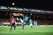 Ben MARSHALL opponents box during the Sky Bet Championship match between Brentford and Blackburn Rovers at Griffin Park, London, England on 13 December 2014.