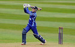 Gloucestershire's Chris Dent hits out - Photo mandatory by-line: Harry Trump/JMP - Mobile: 07966 386802 - 30/03/15 - SPORT - CRICKET - Pre Season Fixture - T20 - Somerset v Gloucestershire - The County Ground, Somerset, England.