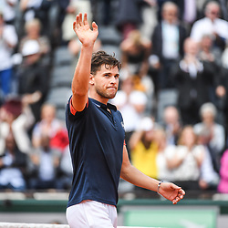 Dominic Thiem of Austria celebrates during Day 10 for the French Open 2018 on June 5, 2018 in Paris, France. (Photo by Anthony Dibon/Icon Sport)