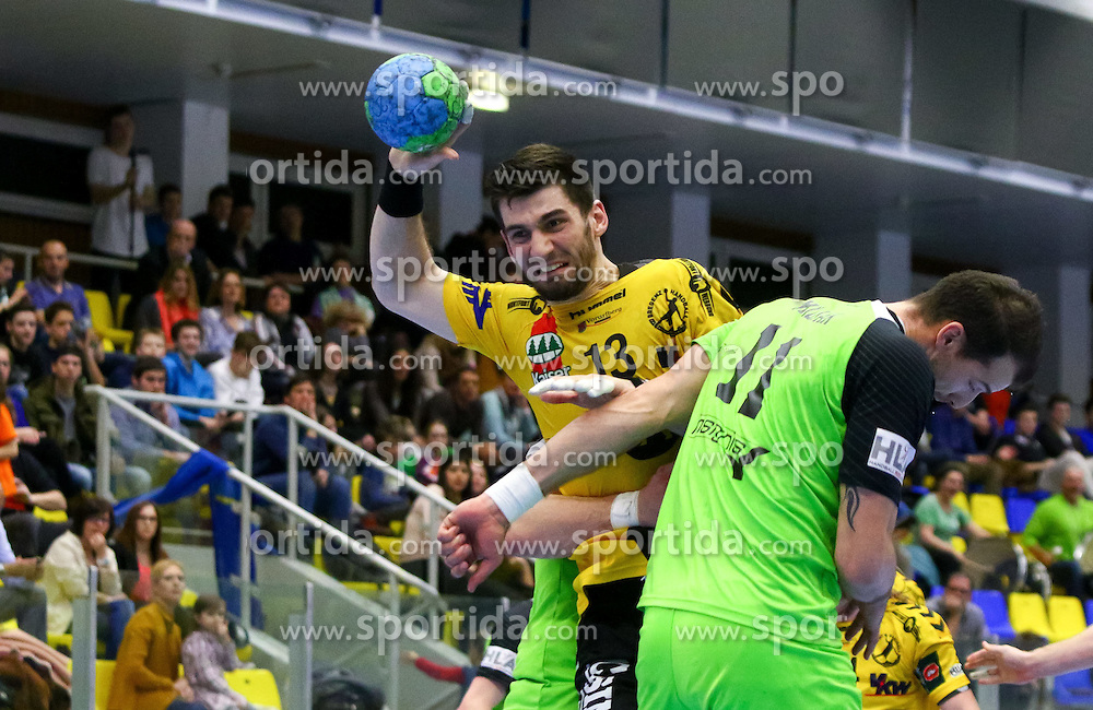 27.03.2015, BSFZ Suedstadt, Maria Enzersdorf, AUT, ÖHB Cup, Halbfinale, Bregenz Handball vs SG INSIGNIS Handball WestWien, im Bild Filip Gavranovic (Bregenz)// during the ÖHB Cup semifinal Match between Bregenz Handball and SG INSIGNIS Handball WestWien at the BSFZ Suedstadt, Maria Enzersdorf, Austria on 2015/03/27, EXPA Pictures © 2015, PhotoCredit: EXPA/ Sebastian Pucher