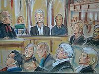 GV of Julian Assange Court case today
