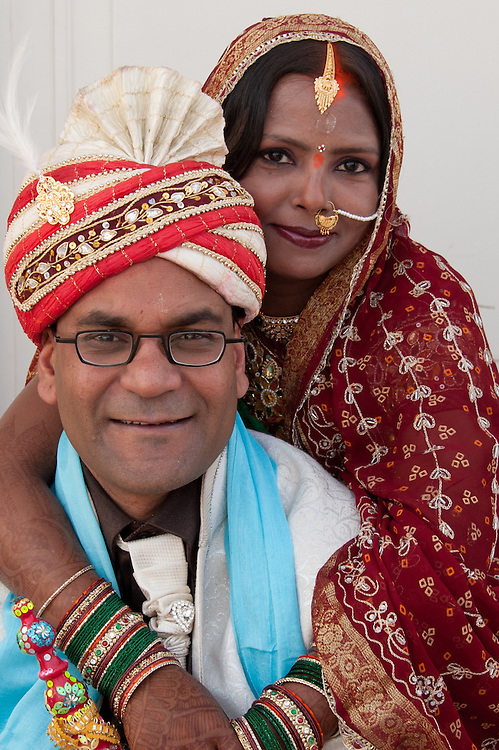 A wedding in India is a much grander and opulent affair than most of the other countries of the world. One look at the Indian bride and you will come across the most noticeable difference in the weddings of India and abroad. She will also serve as the perfect example of the opulence that characterizes an Indian wedding...On her wedding day, an Indian bride comes across as a picture of beauty and grace. While all the guests appreciate the way she is looking, hardly a few of them are aware of how much preparation goes into 'being an Indian bride'. Right from trying a thousand outfits (to select the best one for the wedding), to finding matching jewelry to taking care of the skin and buying just the right 'matching' accessories, she has to undertake a lot of efforts, to look her very best. [source: iloveindia.com]