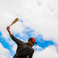Baltimore Orioles third baseman Manny Muchado works out during MLB Spring Training in Sarasota, Fla., on Friday, February 15, 2013.  (PHOTO / CHIP LITHERLAND)