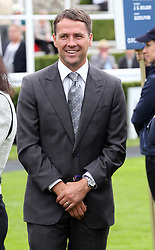 Michael Owen in the parade ring on the second day of Glorious Goodwood in the UK, Wednesday, 31st July 2013<br /> Picture by Stephen Lock / i-Images