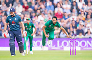 Picture by Allan McKenzie/SWpix.com - 19/05/2019 - Sport - Cricket - 5th Royal London One Day International - England v Pakistan - Emerald Headingley Cricket Ground, Leeds, England - Pakistan's Hassan Ali bowls.