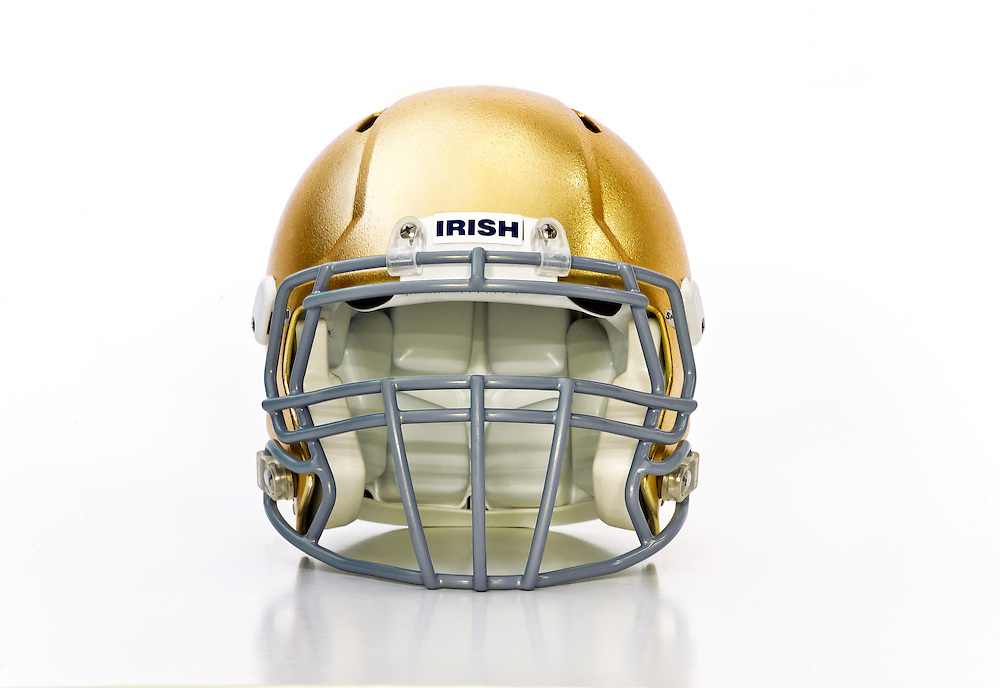 Notre Dame Football helmet..photo by Matt Cashore
