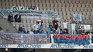 FODBOLD: FC Helsingør-fans under kampen i ALKA Superligaen mellem AGF og FC Helsingør den 13. april 2018 i Ceres Park. Foto: Claus Birch.