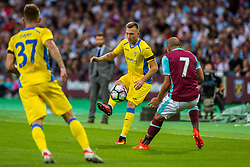 Matic Crnic of NK Domzale during 2nd Leg football match between West Ham United FC and NK Domzale in 3rd Qualifying Round of UEFA Europa league 2016/17 Qualifications, on August 4, 2016 in London, England.  Photo by Ziga Zupan / Sportida