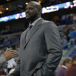 03 December 2008:  Shaquille O'Neal of the Phoenix Suns on the bench during a 104-91 victory by the New Orleans Hornets over the Phoenix Suns at the New Orleans Arena in New Orleans, LA..