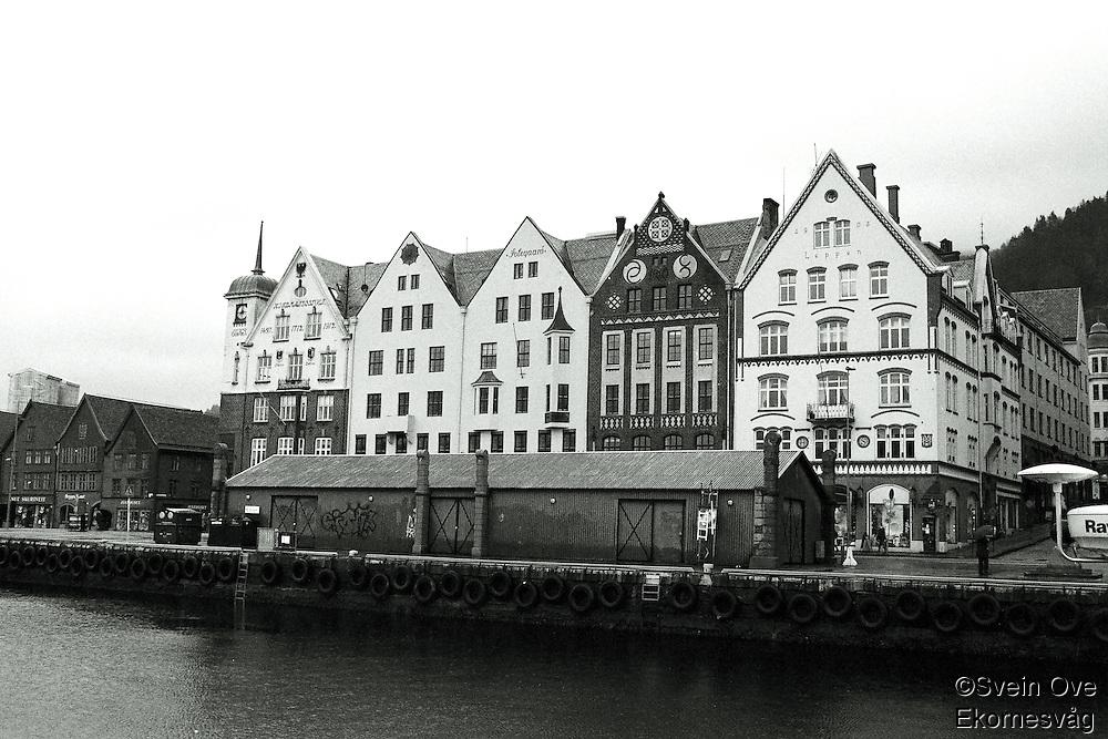 Bryggen i Bergen.<br /> Foto: Svein Ove Ekornesvåg