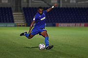 AFC Wimbledon Jack Rudoni (12) passing the ball during the EFL Trophy (Leasing.com) match between AFC Wimbledon and U23 Brighton and Hove Albion at the Cherry Red Records Stadium, Kingston, England on 3 September 2019.