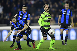 February 8, 2018 - Bruges, Belgique - BRUGGE, BELGIUM - FEBRUARY 8 : Orlando Sa forward of Standard Liege in duel with  Matej Mitrovic defender of Club Brugge during the Croky Cup 1/2 final match between Club Brugge and Standard de Liege in the Jan Breydel stadium on February 08, 2018 in Brugge, Belgium, 8/02/2018 (Credit Image: © Panoramic via ZUMA Press)