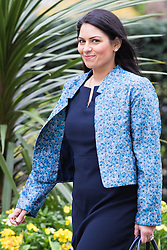 Downing Street, London, April 19th 2016. Employment Minister Priti Patel arrives at Downing Street for the weekly cabinet meeting.