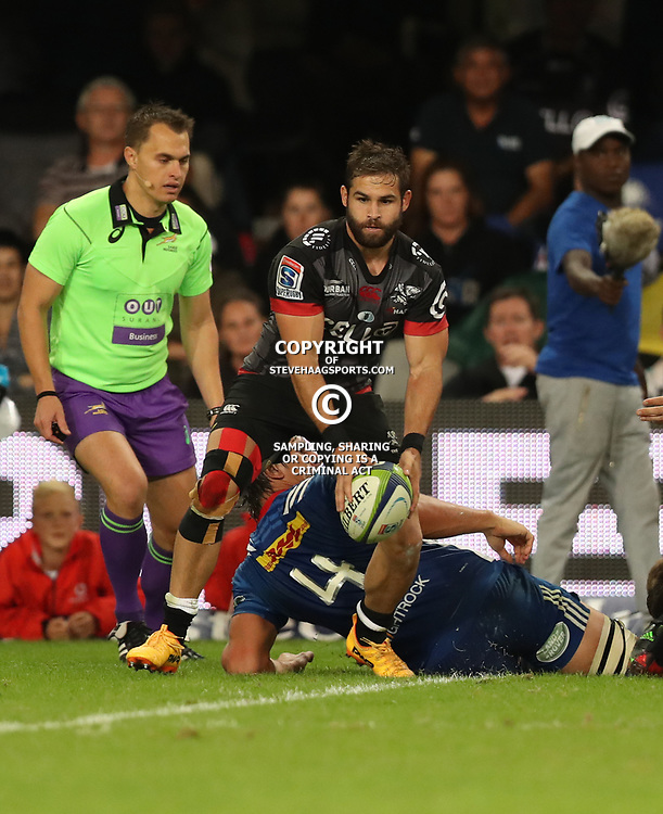 DURBAN, SOUTH AFRICA - MAY 27: Cobus Reinach of the Cell C Sharks during the Super Rugby match between Cell C Sharks and DHL Stormers at Growthpoint Kings Park on May 27, 2017 in Durban, South Africa. (Photo by Steve Haag/Gallo Images)