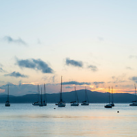 Entardecer na praia de Santo Antonio de Lisboa, Florianópolis, Santa Catarina, foto de Ze Paiva - Vista Imagens