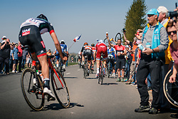 MØRKØV Michael of Team Katusha - Alpecin in the peloton during the 115th Paris-Roubaix (1.UWT) from Compiègne to Roubaix (257 km) at cobblestones sector 25 from Briastre to Solesmes, France, 9 April 2017. Photo by Pim Nijland / PelotonPhotos.com | All photos usage must carry mandatory copyright credit (Peloton Photos | Pim Nijland)