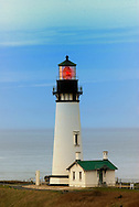 Yaquina Head lighthouse on the Oregon Coast near Newport.