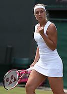 Wimbledon Championships 2012 AELTC,London,.ITF Grand Slam Tennis Tournament,.Sabine Lisicki (GER) macht die Faust und jubelt,Jubel,Emotion, Aktion,,Einzelbild,Halbkoerper, Hochformat,.