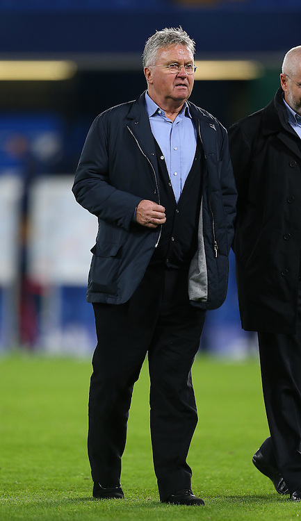 Newly appointed Chelsea Manager, Guus Hiddink - Mandatory byline: Paul Terry/JMP - 07966 386802 - 19/12/2015 - FOOTBALL - Stamford Bridge - London, England - Chelsea v Sunderland - Barclays Premier League
