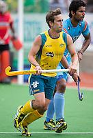 MELBOURNE -  Jason Wilson van Australie tijdens de halve finale tussen de mannen van Australie en India bij de Champions Trophy hockey in Melbourne. ANP KOEN SUYK