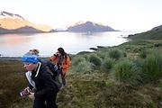 Retracing Shackleton's final trek into Stromness on Friday 9 February 2018.