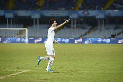 October 11, 2017 - Kolkata, West Bengal, India - Iraq defender Muntadher Mohammed celebrate goal against Chile during the FIFA U 17 World Cup India 2017 Group F match in Kolkata. Player of Iraq and Chile in action during the FIFA U 17 World Cup India 2017 Group F match on October 11, 2017 in Kolkata. (Credit Image: © Saikat Paul/Pacific Press via ZUMA Wire)