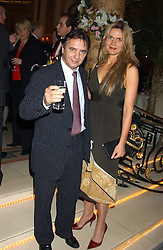 Chef RAYMOND BLANC and CELIA WALDEN at The Business Winter Party hosted by Andrew Neil at The Ritz Hotel, Piccadilly, London on 7th December 2005.<br />