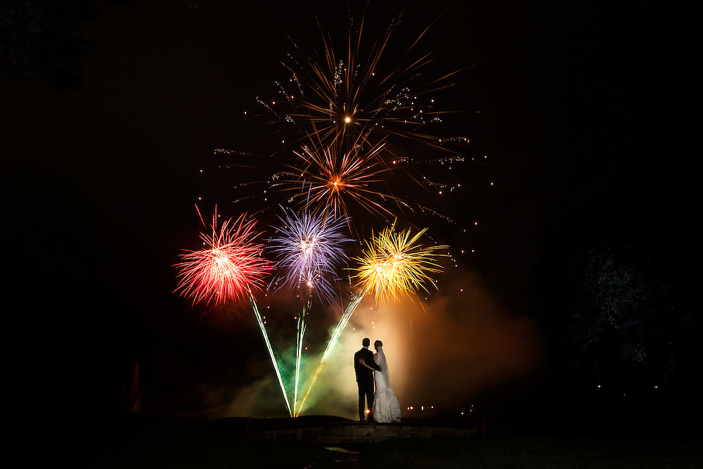 Nicole and Elliott watch fireworks explode over Trappers Turn Golf Course in Wisconsin Dells, Saturday, Aug. 29, 2015. Photo by Justin Edmonds