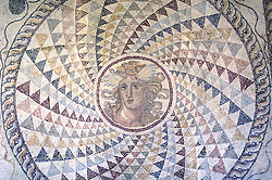 mosaic tile found in Athens, Greece