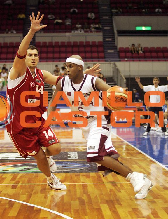 DESCRIZIONE : Hamamatsu Giappone Japan Men World Championship 2006 Campionati Mondiali Qatar-Turkey <br /> GIOCATORE : Ali<br /> SQUADRA : Qatar<br /> EVENTO : Hamamatsu Giappone Japan Men World Championship 2006 Campionato Mondiale Qatar-Turkey <br /> GARA : Qatar Turkey Qatar Turchia<br /> DATA : 23/08/2006 <br /> CATEGORIA : Palleggio<br /> SPORT : Pallacanestro <br /> AUTORE : Agenzia Ciamillo-Castoria/A.Vlachos<br /> Galleria : Japan World Championship 2006<br /> Fotonotizia : Hamamatsu Giappone Japan Men World Championship 2006 Campionati Mondiali Qatar-Turkey <br /> Predefinita :
