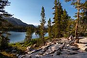 Sunset at Arrowhead Lake, John Muir Trail/Pacific Crest Trail; Sequoia Kings Canyon Wilderness; Kings Canyon National Park; Sierra Nevada Mountains, California, USA.