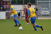 Hollands and Blair player George Blake on the attack during the Southern Counties East match between AFC Croydon Athletic and Hollands & Blair at the Mayfield Stadium, Croydon, United Kingdom on 10 October 2015. Photo by Mark Davies.
