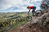 Greg Watts samples a new downhill mountain bike course at Canyons Resort.