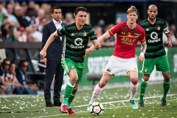 Steven Berghuis of Feyenoord during the Dutch Toto KNVB Cup Final match between AZ Alkmaar and Feyenoord on April 22, 2018 at the Kuip stadium in Rotterdam, The Netherlands.