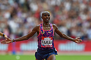 Mo Farah of Great Britain wins the Men's 3000m during the Muller Anniversary Games at the London Stadium, London, England on 9 July 2017. Photo by Martin Cole.