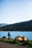 Bike camping. Montana.