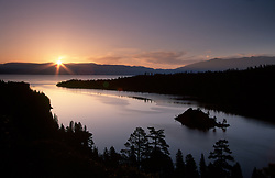 """""""Emerald Bay Sunrise 1""""- This sunrise was photographed at Emerald Bay in Lake Tahoe, CA.<br /> Photographed: June 2004"""